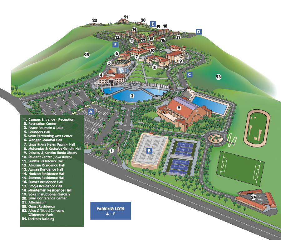 soka university campus map Event Lions Roar